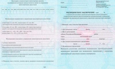 Какие документы нужны для медсправки на права?